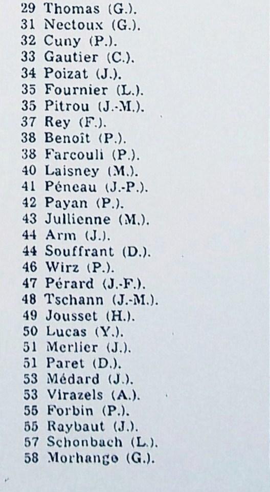 (2) Sortie  J.O.      29 à 58
