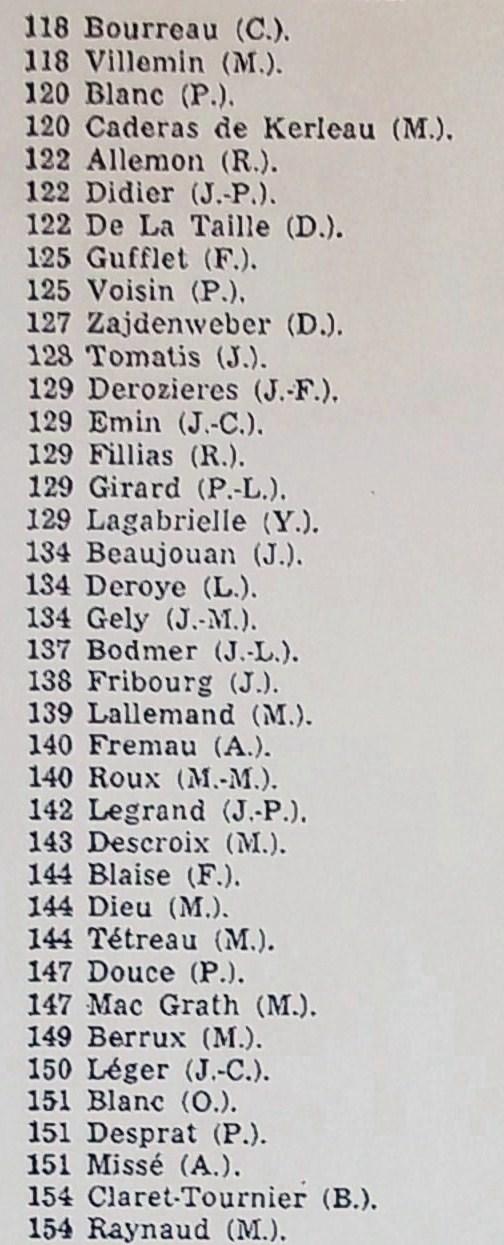 (5) Sortie J.O.     118 à 154