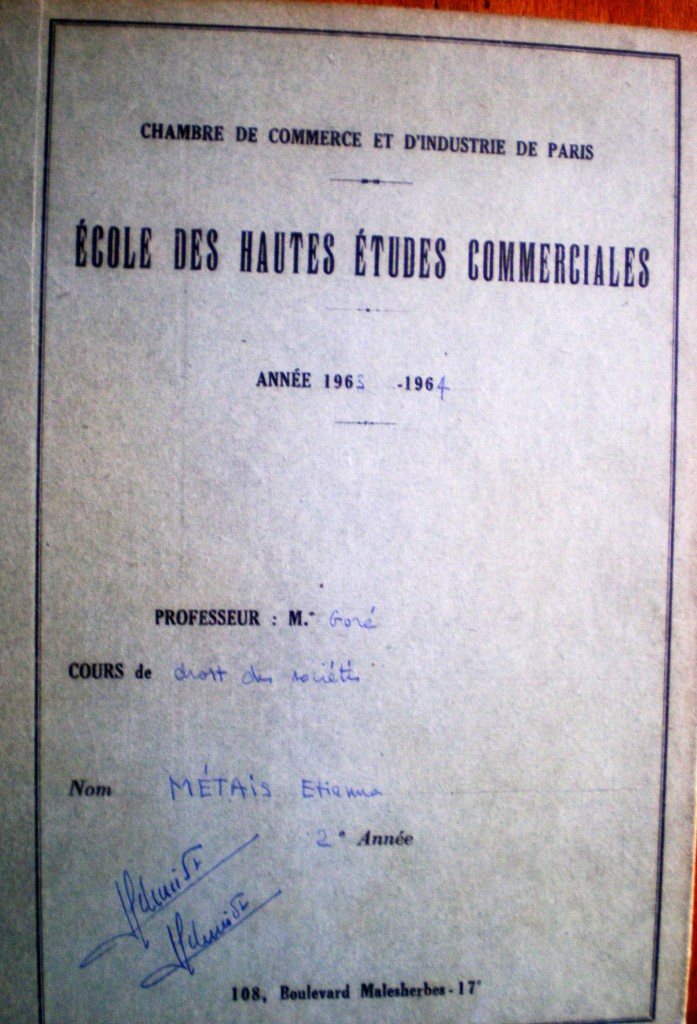 Goré  Cahier vert  Métais