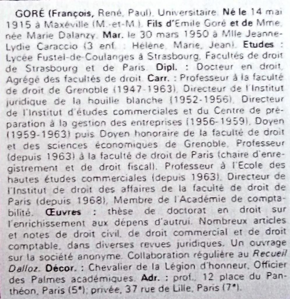 Goré  WW  69-70