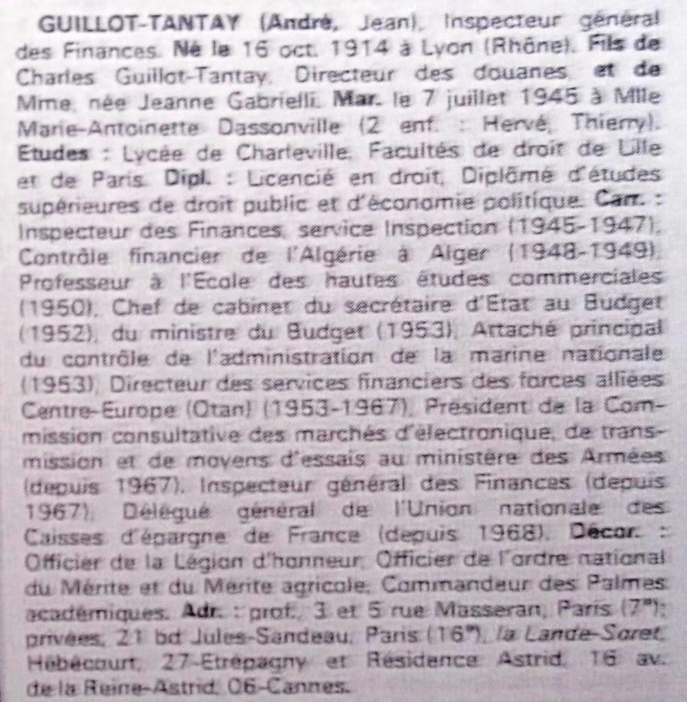 Guillot-Tantay  WW  69-70