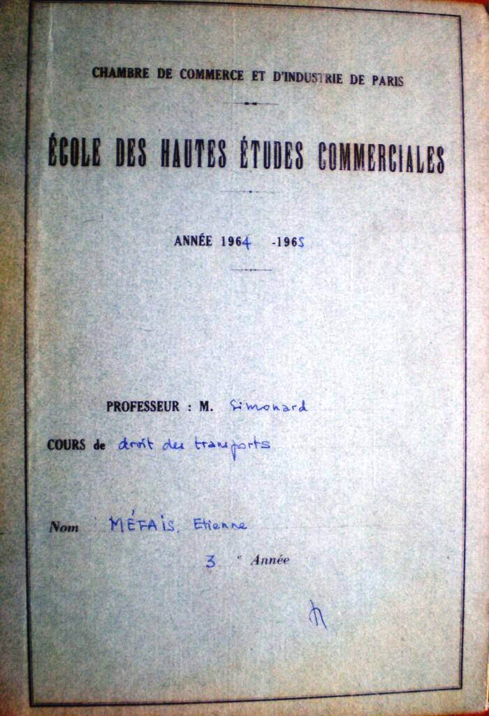 Simonard  Cahier vert  Metais
