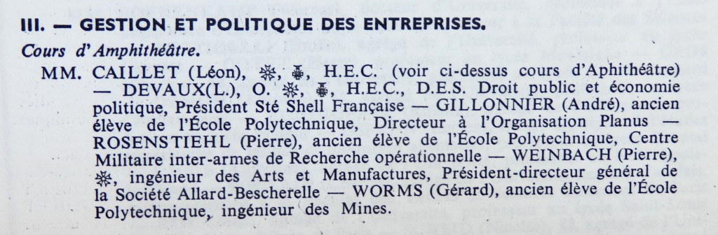 GESTION ORGANISATION AMPHIS 1962 1963