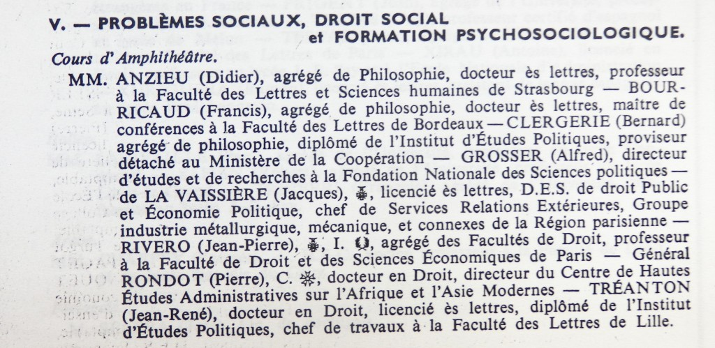 SCIENCES HUMAINES 1962 1963