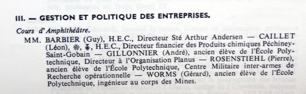 GESTION ORGANISATION 1964 1965