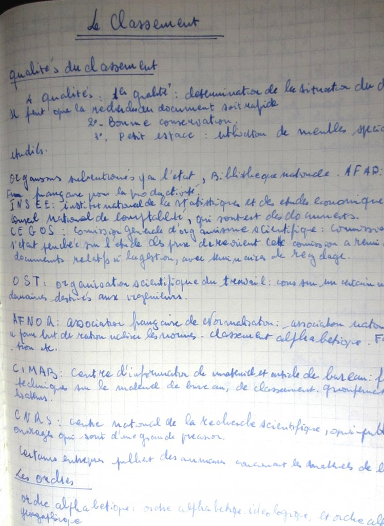 CAILLET NOTES