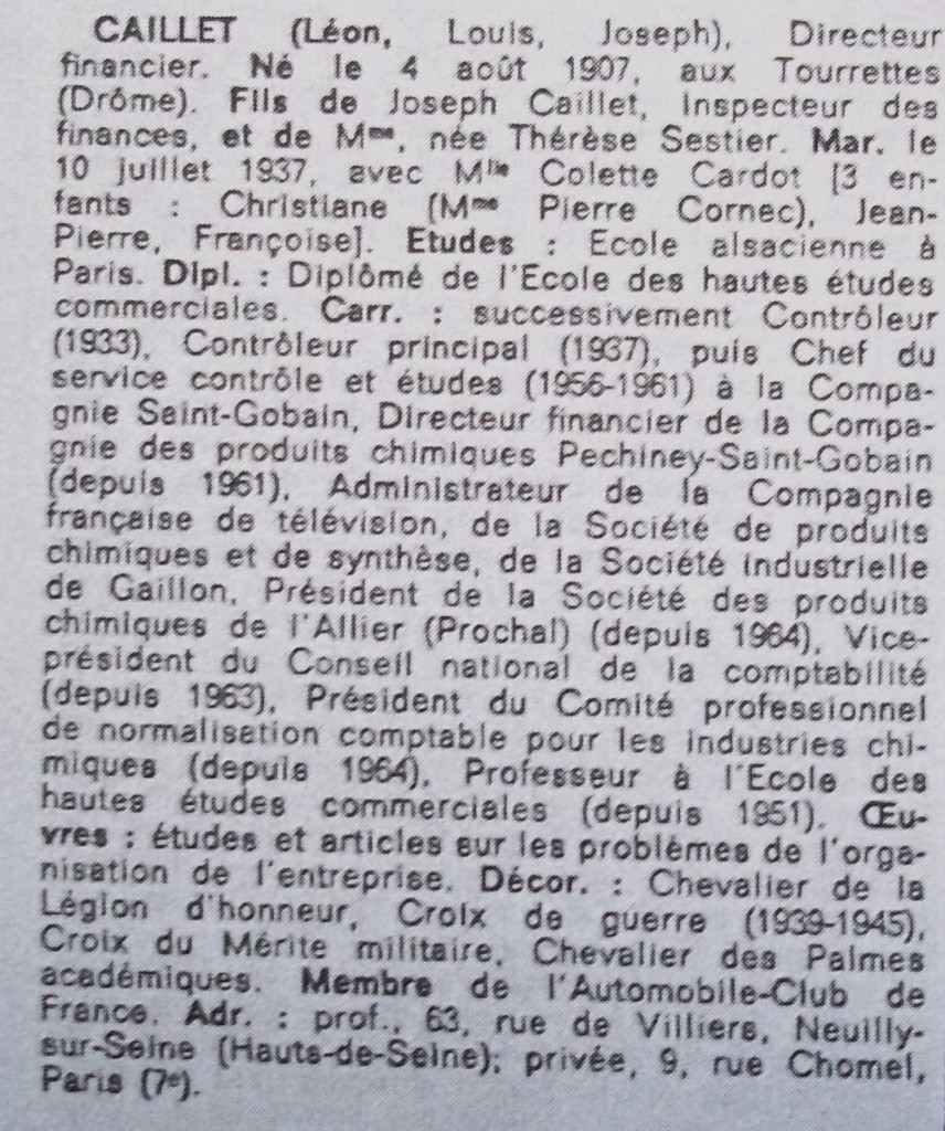 Caillet  WW  67-68