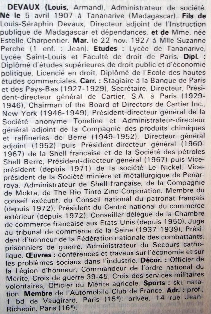 Devaux      WW 1973-1974