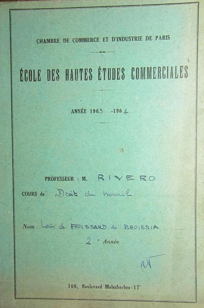 Rivero  Cahier vert  de Broissia