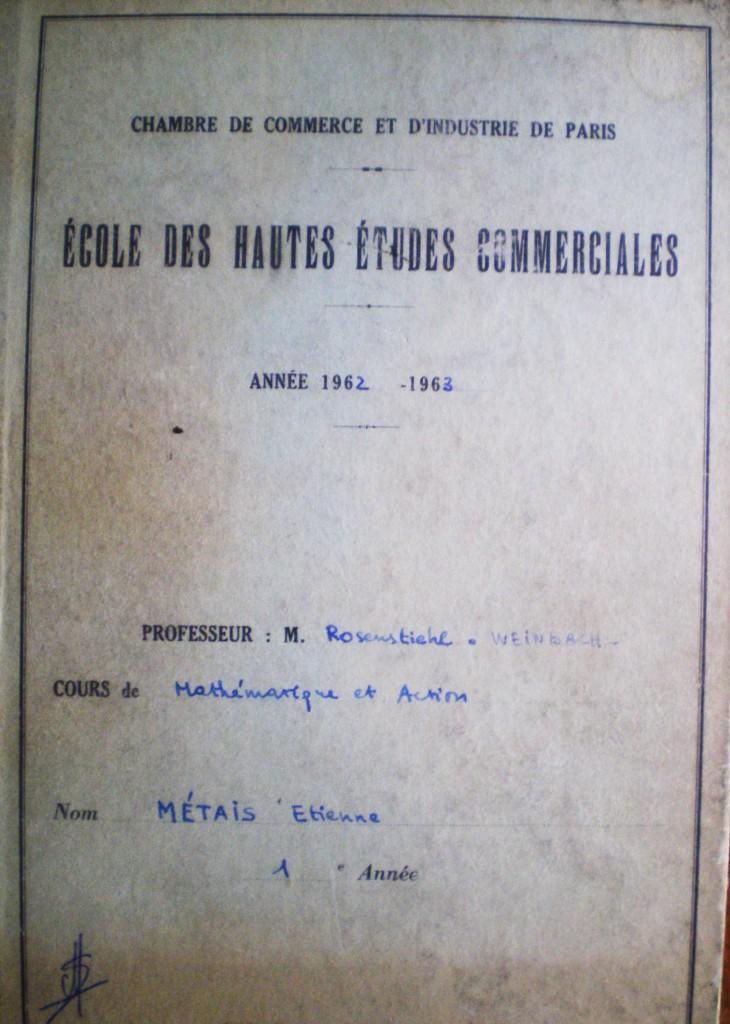 Rosenstiehl  Cahier vert Métais