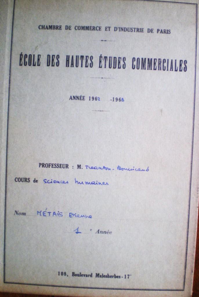 Tréanton- Bourricaud  Cahier vert  Métais